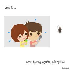 Love is about fighting together, side-by-side. #lovebyte