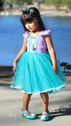 07c9c03db Mermaid dress, Ariel dress, princess dress, little mermaid dress, Tutu,  mermaid birthday, handmade,. Ariel Costumes ...