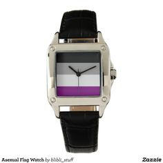 Asexual flag watch: Wear it with pride. :) You can buy it on #zazzle: http://www.zazzle.com/asexual_flag_watch-256995241743144418 #asexual #asexuality #ace #lgbtqia #watch #watches