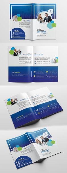 Corporate Bifold Brochure Template     #annualreport #bestof #booklet #brochuredesign #brochuretemplates #catalogdesign #portfoliobrochure
