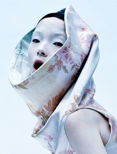 Xiao Wen Ju photographed by Tim Walker for Vogue UK March 2015
