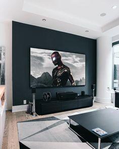 Living Room Setup, Living Room Interior, Home Decor Bedroom, Room Decor, Game Room Design, Home And Deco, House Rooms, Apartment Living, Studio Apartment