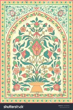 Find Traditional Islamic Floral Design Template Greeting stock images in HD and millions of other royalty-free stock photos, illustrations and vectors in the Shutterstock collection. Drawing Simple, Drawing Hand, Islamic Art Pattern, Pattern Art, Marble Art, Tile Art, Style Marocain, Pichwai Paintings, Foto Transfer