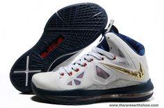 Discounts 542244-100 USAB Sample White Navy Gold Style Nike Lebron X (10)