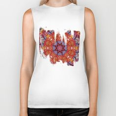 Merry Doodle Biker Tank by KN_COLLECTION | Society6