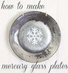 DIY: How to make mercury glass plates