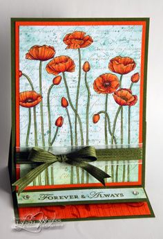 Pleasant Poppy Easel Card by Lynn Weiss