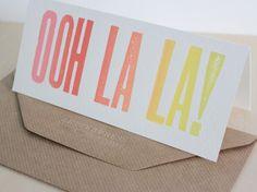 Wood type Letterpress Card