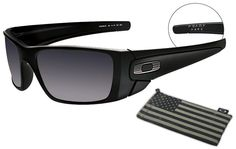 Oakley SI Fuel Cell Sunglasses with ΜΟΛΩΝ ΛΑΒΕ imprinted on inside of temple arm.