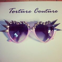CLAWS Eyelashes Spiked Kawaii Harajuku Sunglasses Sunnies, Lolita, Heart Shaped, Torture Couture, Scene, Club Kid, japan, candy