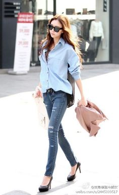 64b780602b3f2c skinny jeans with heels Korean Street Fashion
