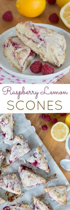 Fantastic Simple and quick to prepare, these little Raspberry Lemon Scones are full of tart berry and tangy lemon flavor. This easy recipe is perfect for a quick breakfast or an afternoon treat. The post Simple and quick to prepare, these l . Just Desserts, Delicious Desserts, Yummy Food, Lemon Scones, Raspberry Scones, Raspberry Recipes, Raspberry Popsicles, Raspberry Punch, Raspberry Cordial