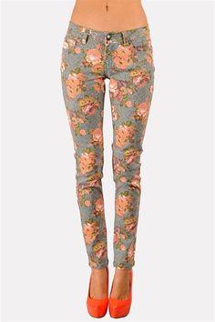 Flower Power Pants  The shoe color spells brave