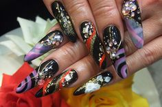 Not really into the long nails like this but I like the design