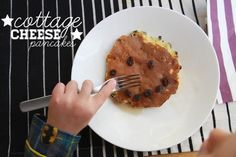 Cottage Cheese Pancakes from the weelicious cookbook + GIVEAWAY!