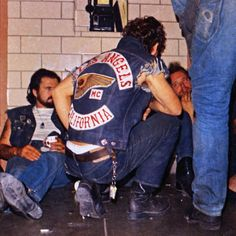 Sonny Barger & Tiny from Oakland. Photo by Tom Fugle, Motorcycle Clubs, Motorcycle Style, Biker Style, Harley Davidson Art, Harley Davidson Motorcycles, Sonny Barger, Chevrolet Sedan, Hells Angels, Old School Cars