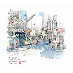 B6速寫男 (@b6drawingman) в Instagram: «building under construction in St Little La Trobe, Melbourne, Australia #aquarell #art #painting #watercolor #watercolour #sketch #paint #drawing #sketching #sketchbook #travelbook #archisketcher #sketchaday #sketchwalker #sketchcollector #traveldiary #topcreator #usk #urbansketch #urbansketchers #скетчбук #скетч #скетчинг #pleinair #aquarelle #watercolorsketch #usk #architecture #painting #illustration