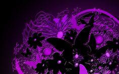 Black And Purple Butterfly   Purple Butterfly Desktop Wallpaper HD Resolution Purple Butterfly ...