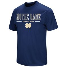 Men's Colosseum Notre Dame Fighting Irish Embossed Tee, Size: Medium, Blue (Navy)
