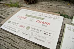 Wedding Invitation: Rustic and Modern Garden invitation. $2.00, via Etsy.