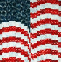 FREE Quilt Pattern: Firework Flag by Gigi Khalsa. Piece, cut, rearrange, re-piece. That's all you need to do to create this patriotic FREE quilt pattern made with Artisan Batiks by Robert Kaufman Fabrics. Thanks to the step-by-step instructions in Easy Lesson, this project can be a pillow case, wall hanging or both!