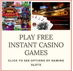 Get in touch with FREEGAMES.CASINO and #play #free #casino #games at an instant. You can really enjoy the graphical representation of our casino games. Play now!