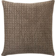 Velvet Patch Pillow | CB2