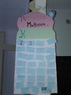 Deze ramadan kalender is leuk voor kinderen achter elk vlaggetje staat een opdracht als de kinderen de opdracht goed hebben volbracht krijgen ze een beloning zoals een snoepje klein kadootje en dergelijk.