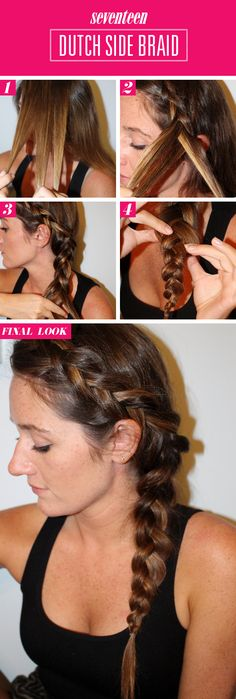 French Side Braid Tutorial - How To Do Reverse French Side Braid - Seventeen