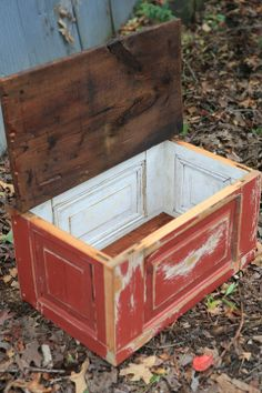 salvaged door blanket box