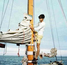 A life at sea is all about horizons, not borders (Vincent Banic by David Ledoux for GQ France) #nauticalprep