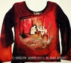 "Koszulka ""My Panic Room""malowana recznie © Katarzyna Urbanek , All rights reserved https://www.facebook.com/lunarisart"