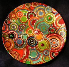 dot painting, puntillismo, point to point, Точечная роспись. Dot Art Painting, Mandala Painting, Pottery Painting, Ceramic Painting, Mandala Art, Stone Painting, Point Paint, Paint Your Own Pottery, Painted Plates