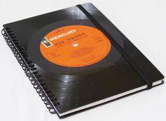 Notizbuch  von VinylKunst Aurum - Schallplatten Upcycling der besonderen ART auf DaWanda.com