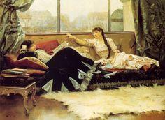 Sarah Bernhardt & Christine Nilsson - Julius LeBlanc Stewart - 1883