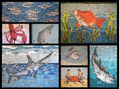 Just been commissioned to make a #whale #mosaic - first time for me but I have made a few #fish ... #mosaics #fishmosaics #fishart #fishrestaurants #fishinglife