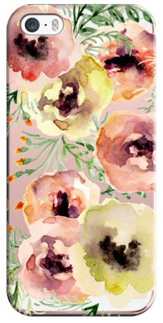 Casetify iPhone SE Classic Snap Case - Watercolor flowers by Julia Badeeva #Casetify