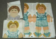 """Deans """"Miller Collection"""" 7 X Doll Sheets 1910-1920S"""