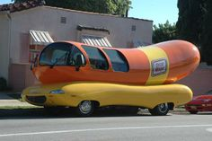 Oscar Meyer Weiner-mobile, Spotted in Santa Monica, California . My sister and I went up to it when we were kids in the 60's and the driver gave us Weiner-mobile whistles. I still have mine.