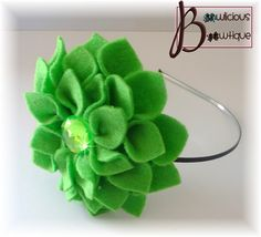 Amazing Lime felt flower headband