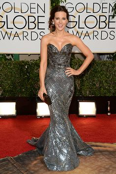 Kate Beckinsale in Zuhair Murad. Golden Globes 2014. I love this dress.
