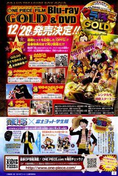 La película ONE PIECE FILM GOLD será lanzada en Blu-ray y DVD el 28 de diciembre.