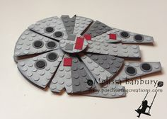 """Star Wars Battleship"" Lego Card (Site: photos only; instructions can be purchased from the card creator)"