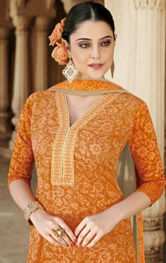 Being a reputed manufacturer and Supplier in the clothing production, we are offering the best quality Floral Designer semi stitch salwar kameez for women. The offered suit is designed by our highly skilled experts by magnificent latest manufacture techniques and fine stitching methods, which make its unyielding against tear. Salwar Kameez, Stitching, Floral Design, Suits, Collections, Clothing, How To Make, Dresses, Women