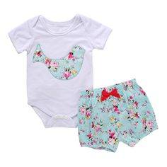 eb3c5cee420 2019 2017 Summer Hot Girls Boys Clothes Set Deer Bird Printed Top Romper  Short Sleeve Bloomers Infant Baby Christmas Clothing Cute Outfits From  Mikrdoo
