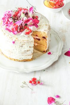 White Chocolate And Raspberry Cake with Orange Butter Cream