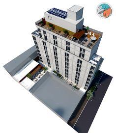 Projeto do escritório Atelier da Reforma. Edifício Guilhermina