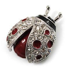 Ladybug brooch.