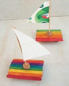Basteln-Kinder-Sommer-Eis am Stiel-Stiefel-weinkorken-farbig Source by v_kaden Kids Crafts, Camping Crafts For Kids, Boat Crafts, Diy Crafts To Do, Summer Crafts For Kids, Summer Kids, Toddler Crafts, Preschool Crafts, Projects For Kids