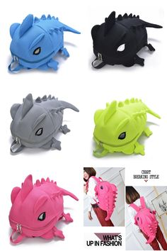 ee065e22ba74  Visit to Buy  Designer Women Backpacks Dinosaur Backpack Cartoon Animal  Shoulder School Bag For Teenagers Girls Boys Chameleon Lizard